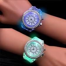 School Boy <b>Girl Watches</b> Electronic Colorful Light Source Sister ...