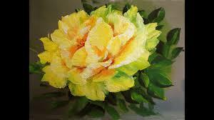 """Желтые розы поэтапно <b>маслом</b> """"одним мазком"""".<b>Yellow rose</b> ..."""