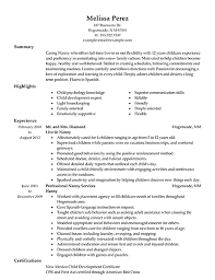 babysitting on resume example  good moral character reference    sample nanny resume examples