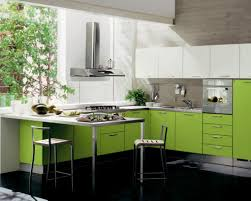 Laminate Kitchen Furniture Accessories More Shiny By Using The Light Green