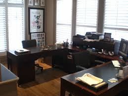 shaped home office rectangle unpolished hickory wood office black wood office desk 4