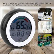 <b>New Round Touch Screen</b> Digital Thermometer and Hygrometer ...
