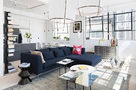 amazing scandinavian design trends for this summer season dark blue couch modern scandinavian living room with blue dark trendy living room
