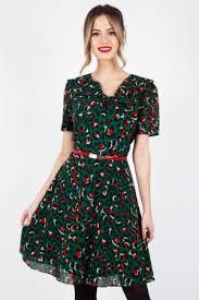 Melissa Belted <b>Leopard Print</b> Dress | <b>Vintage</b> Inspired <b>Fashion</b> ...