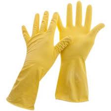<b>Перчатки хозяйственные OfficeClean</b> L резин.латекс желтые с/н
