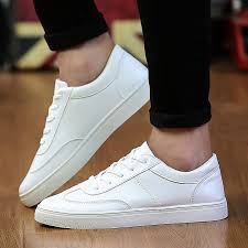 【Quality Men Shoes】<b>Summer men's sports casual</b> shoes white ...