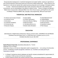 cover letter sample resume for research analyst sample resume for cover letter equity research resume equity analyst associate resumesample resume for research analyst large size