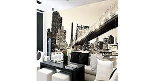 <b>Custom 3d photo wallpaper</b> nostalgic Manhattan bridge black and ...