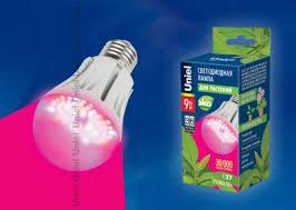 <b>Лампа Uniel</b> светодиодная для растений <b>LED</b>-<b>A60</b>-9W/SP/E27/CL ...