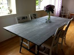 room simple dining sets:  dining room dining room interior simple diy gray painted wood reclaimed table furniture design discount