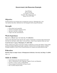one job resume
