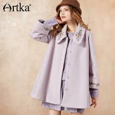<b>ARTKA</b> 2018 <b>Autumn&Winter</b> Vintage Embroidery Wool Contained ...