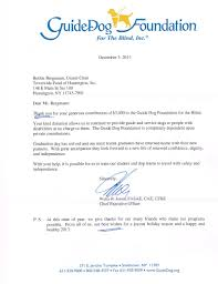 thank you letters the townwide fund of huntington guide dog foundation for the blind inc letter