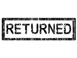 「returned」の画像検索結果