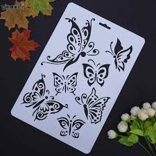 <b>VODOOL Butterfly</b> Hollow <b>DIY</b> Drawing Stencils Template Painting ...