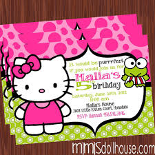 fearsome hello kitty birthday party invitations com hello kitty birthday party invitations to make charming birthday invitation design online 15920165