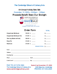 8 best images of printable flyers for printable bake bake order form template