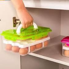 Egg storage box double layers 24 grid eggs holder box ... - Vova