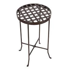 achla designs flowers 2475 in roman bronze indooroutdoor round wrought iron plant stand achla designs wrought iron