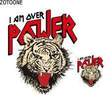 <b>ZOTOONE</b> Jungle Alphabet <b>Tiger Patch</b> DIY Jacket T-shirt ...