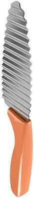 "Нож для <b>фигурной нарезки</b> ""Metaltex"", цвет: оранжевый, длина ..."