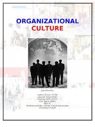 organization culture organizational culture