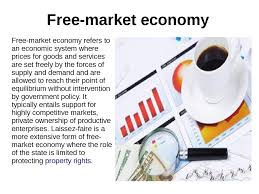 market economy  market economy market economy refers to an economic system where prices for goods and services are set ly by the forces of