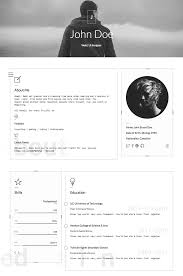 15 best html resume templates for awesome personal sites classic personal resume html website template
