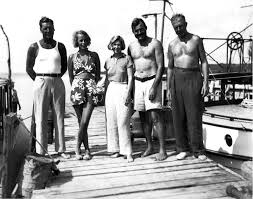 key west years john f kennedy presidential library eh1536n l r unidentified man eva von blixen pauline pfeiffer ernest hemingway