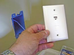 how to install an ethernet jack for a home network fishing cable wall plate ethernet jack and blank insert