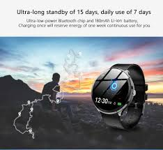 $18 with coupon for <b>Kospet V12 Leather</b> Smartwatch Waterproof ...