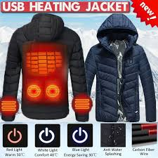 NEW Upgraded <b>Warm</b> Winter Men Outdoor USB Infrared <b>Heating</b> ...