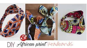How to Sew Headbands 3 STYLES-<b>African Print Ankara</b> - YouTube