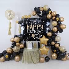 <b>Black Gold</b> Theme Party <b>Set</b> up - <b>1</b>   Customized Adult Party ...
