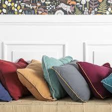 INSÉPARABLES Cushion cover <b>40x60</b> cm washed cotton gauze ...