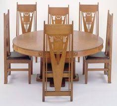george grant elmslie table and side chairs set oak laminated wood leather circa art deco dining art deco dining set
