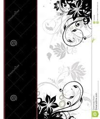 elegant floral page border template cover page royalty stock elegant floral page border template cover page
