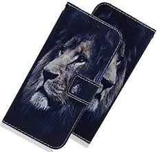 LEECOCO Galaxy A10S <b>Case Cover</b> Shockproof Lion PU Leather ...