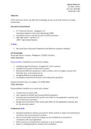hvac resume help resume hvac home