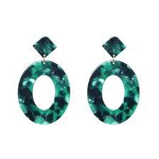 Shop Juran 4 colors resin statement earrings <b>vintage big round</b> ...