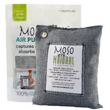 MOSO NATURAL Air Purifying Bag <b>500g</b> Bamboo Charcoal Air ...