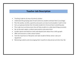 teacher resume sample pdf    responsibilities of a teacher