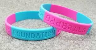 ODDBALLS CANCER Awareness <b>Wristband Silicone Band Bracelet</b> ...