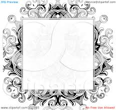 royalty rf clipart illustration of a formal invitation royalty rf clipart illustration of a formal invitation design of a gray floral box over a black floral design on white by bestvector