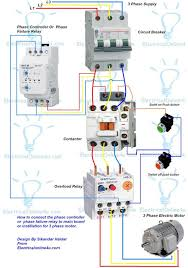 1 phase motor starter wiring diagram wirdig phase controller wiring phase failure relay diagram
