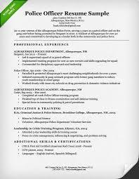 police officer resume sample  amp  writing guide   resume geniuspolice officer resume example