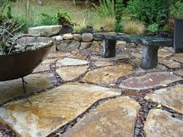 stone patio installation:  images about ideas for the house on pinterest project ideas river rock patio and stone patios