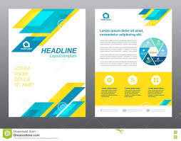 layout flyer template size a cover page blue and yellow stripe layout flyer template size a4 cover page blue and yellow stripe vector design