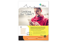 flyer templates  sample flyers amp examples social media consultant flyer template