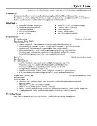 architecture landscaping resume examples sample resumes best landscaping